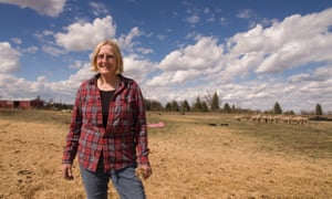 Dena Hoff, a sheep farmer outside the town of Glendive in Montana, stands feet away from the site of the Poplar pipeline leak in 2015.