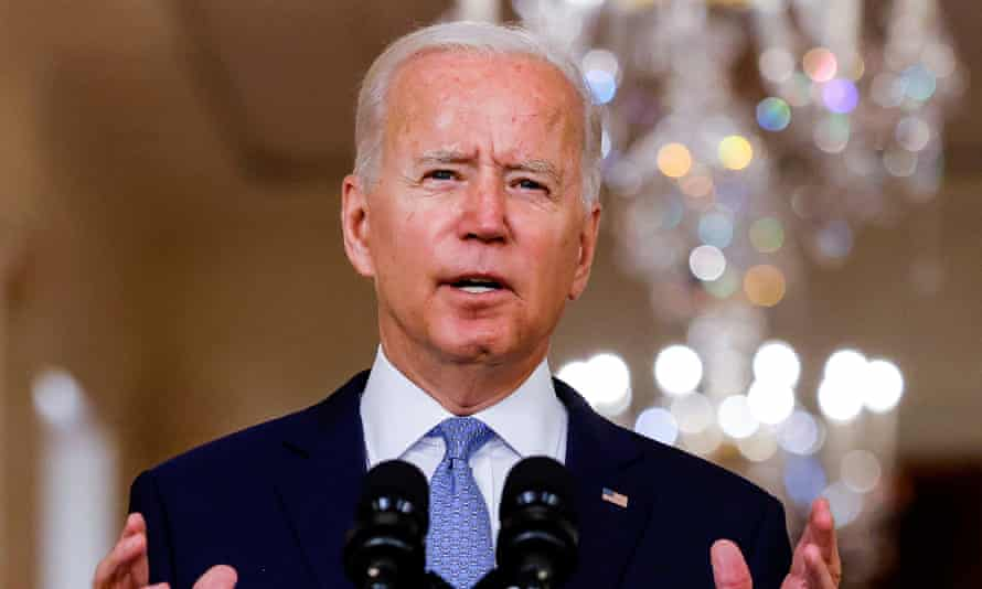 U.S. President Biden speaks about Afghanistan at the White House in WashingtonU.S. President Joe Biden delivers remarks on Afghanistan during a speech in the State Dining Room at the White House in Washington, U.S., August 31, 2021. REUTERS/Carlos Barria