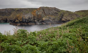 Mullion island, off the Cornish coast, is uninhabited and requires a permit to visit.