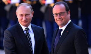 Vladimir Putin and François Hollande in October 2015