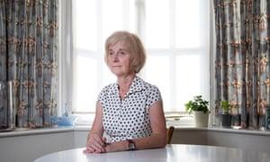 Linda Sutherland, who nursed Janet Parker, at home in 2020.