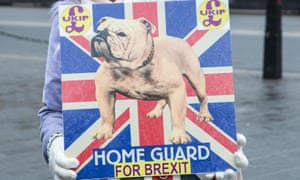 A poster expressing support for Ukip and Brexit.