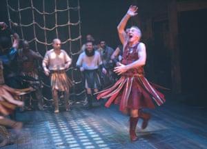 Patrick Stewart (Mark Antony) in Antony and Cleopatra at the Swan theatre, Stratford, 2006