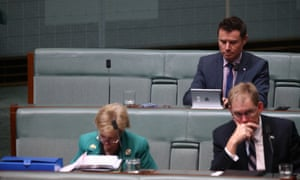 The seat allocated to former prime minister Tony Abbott remained empty during question time.