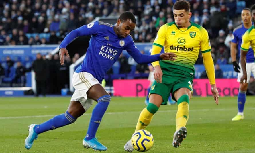 Ben Godfrey closes down Leicester's Ricardo Pereira