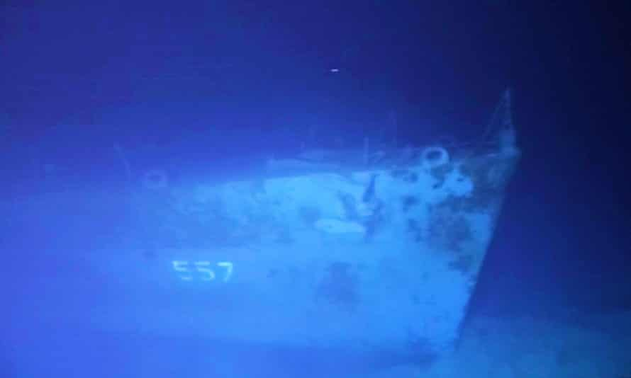 The hull number '557' still visible