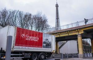 The Port de la Bourdonnais terminal in the shadow of the Eiffel Tower.