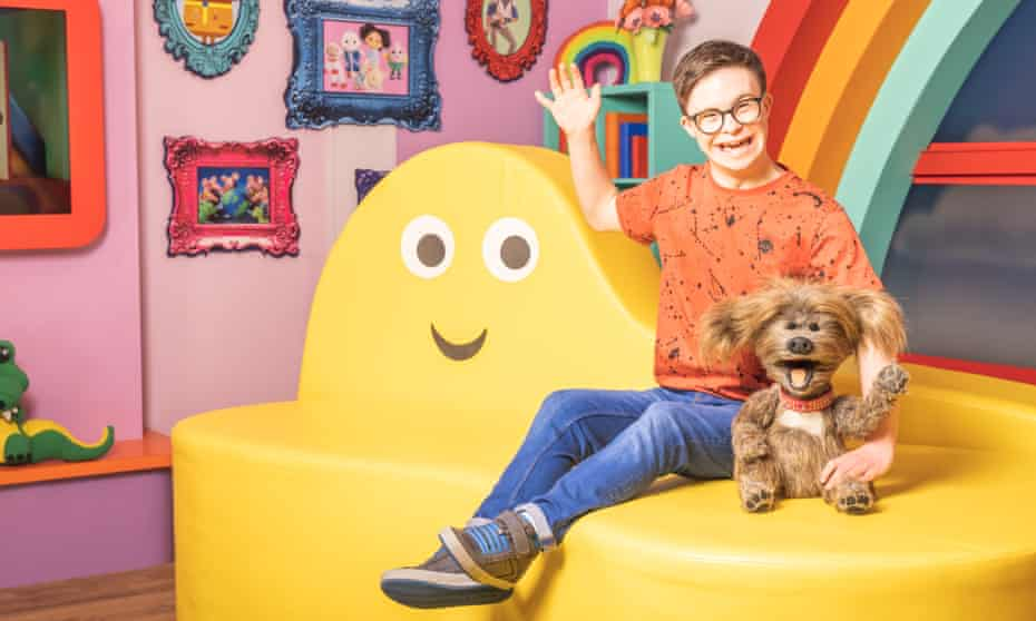 George Webster became the first BBC children's presenter with Down's syndrome on Monday morning