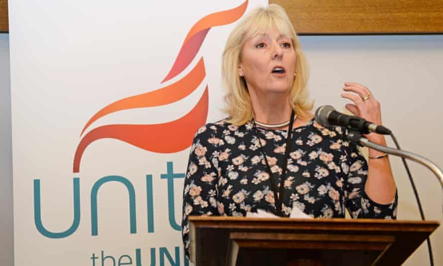 Jennie Formby, an organiser for the Unite union