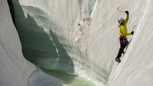 Training climb on the ice features of the Baltoro glacier