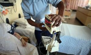 Nurse working in hospital