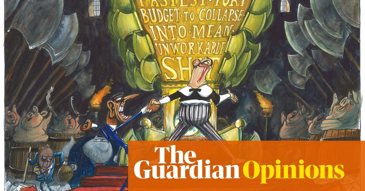 Martin Rowson on Rishi Sunak's budget backlash – cartoon