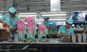 Disney Princess dolls on the production line at Shenzhen Wei Lee Fung Plastic Products.