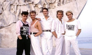So true … Gary Kemp (second left) with Spandau Ballet in 1987.