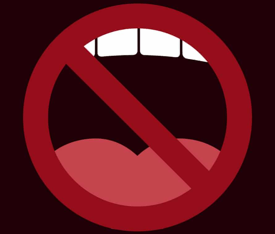 Illustration of mouth no entry sign