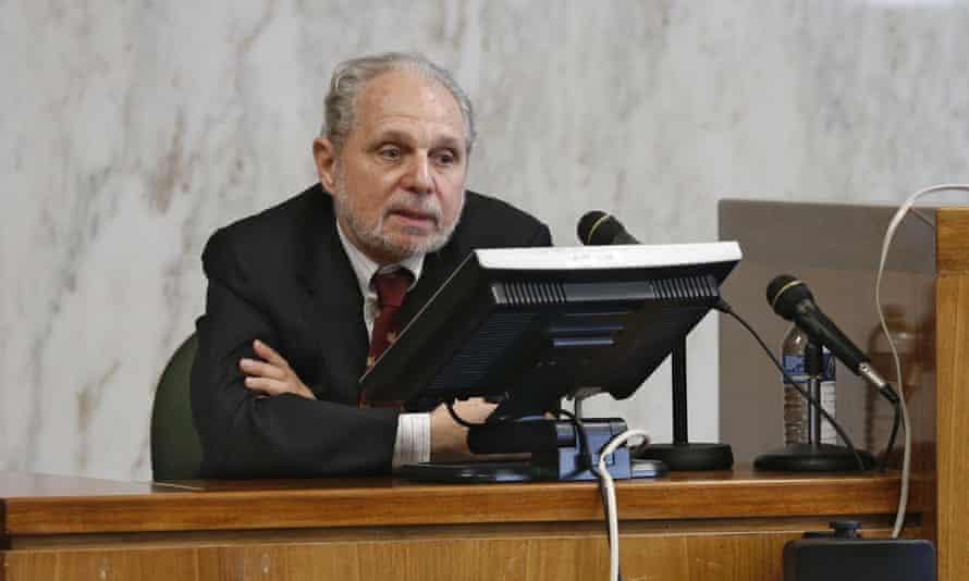 Arthur Goldberg, director of Jonah, testifies at the trial in Jersey City