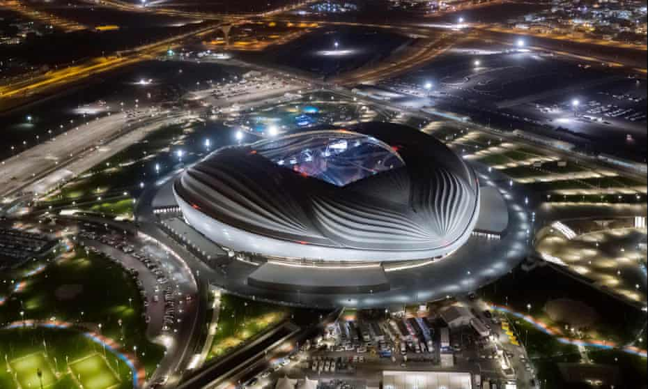 'I have nothing to do with the workers' … Zaha Hadid's stadium for the 2022 World Cup in Qatar, where hundreds of migrant workers have died on construction projects.