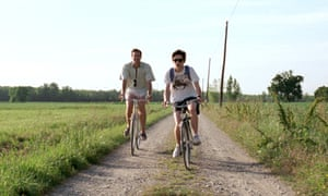 Armie Hammer and Timothée Chalament in Call Me by Your Name.