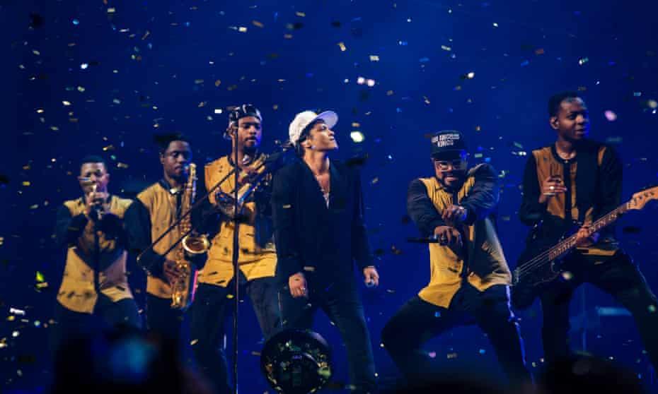 Bruno Mars in London.