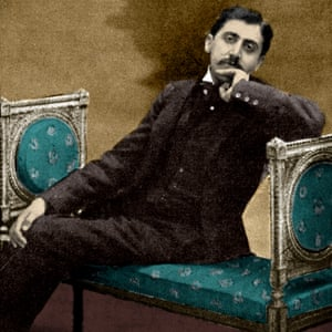 Marcel Proust on a sofa