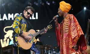 Keeping their cool … Matthieu Chedid and Fatoumata Diawara of Lamomali at Womad.
