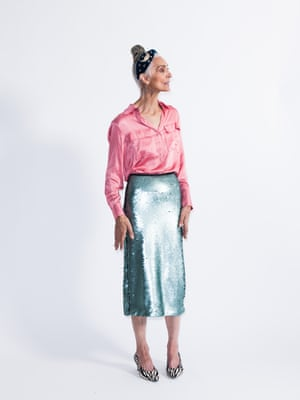 Model wears shirt, £49.99, and skirt, £69.99, both mango.com. Courts, £165, russellandbromley.co.uk. Headband, £34, anthropologie.com.