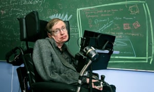 Stephen Hawking at his office at the department of applied mathematics and theoretical physics at Cambridge University in 2005.