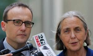 Greens Senator Lee Rhiannon and MP Adam Bandt