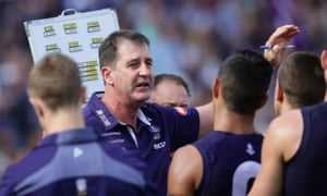 Fremantle coach Ross Lyon knows well the balance that AFL coaches need to strike between motivating their players with practical solutions and giving them an old-fashioned spray.