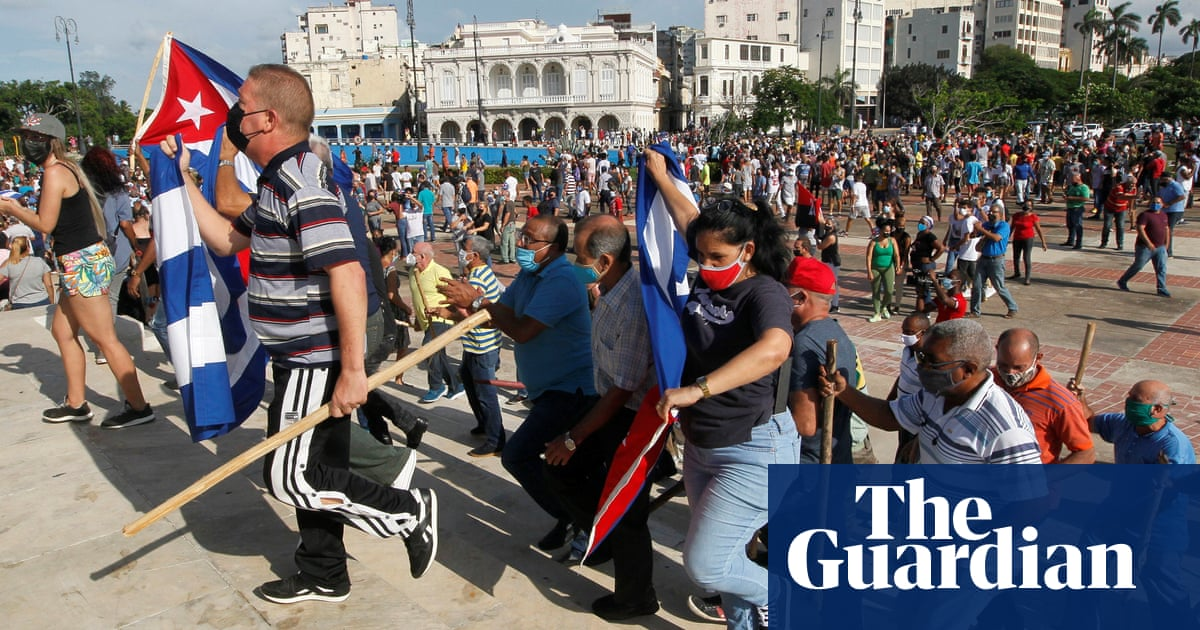 Cuban president claims protests part of US plot to 'fracture' Communist party