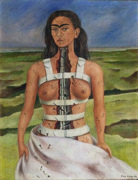 Frida Kahlo's The Broken Column, 1944.