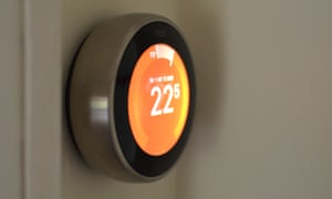 You can use Alexa to control the Nest smart thermostat.