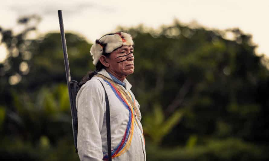 Taish, an Achuar shaman in Wayusentsa, Ecuador.