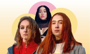 Broken social scene ... Let's Eat Grandma's teenagers Rosa Walton and Jenny Hollingworth, and Noah Cyrus.