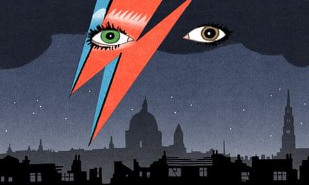 Bill Bragg illustration David Bowie