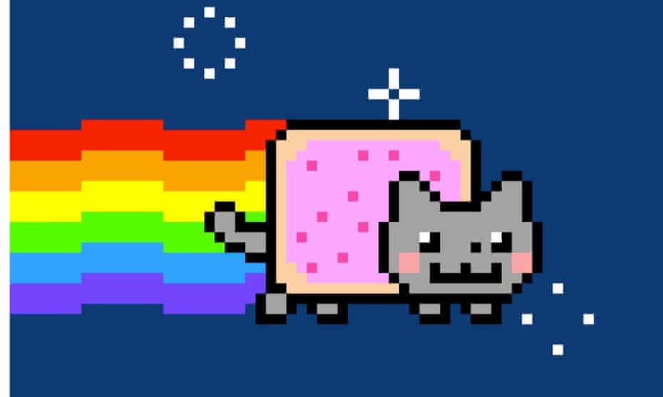 A frame from Chris Torres' Nyan Cat gif.