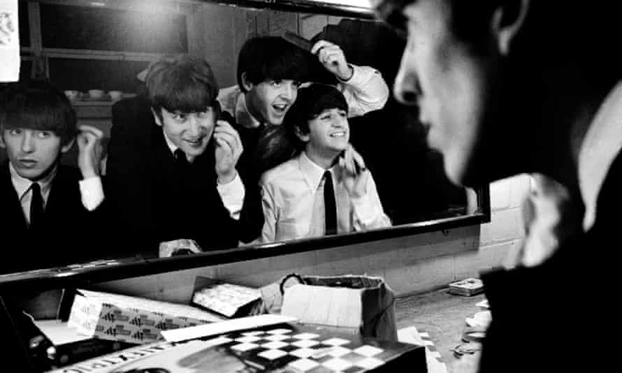 Hair, there and everywhere … George, John, Paul and Ringo at Coventry theatre in 1963.