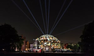 Five Telegrams: Sender by Anna Meredith and 59 Productions, projected on to the Royal Albert Hall in a Proms curtain-raiser.