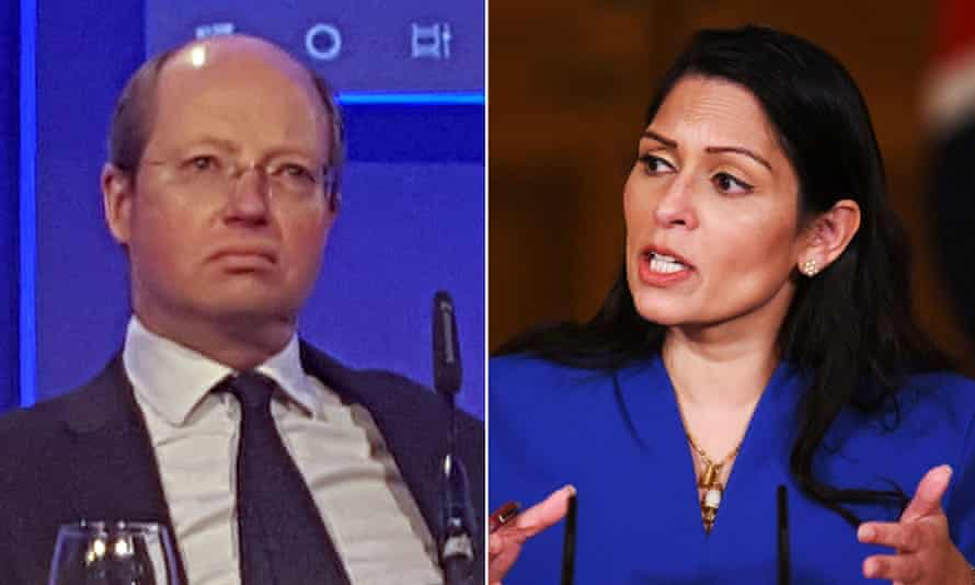 Philip Rutnam and Priti Patel. The former permanent secretary (left) had claimed he was forced out of his job.