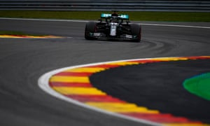 Lewis Hamilton on his way to another pole position