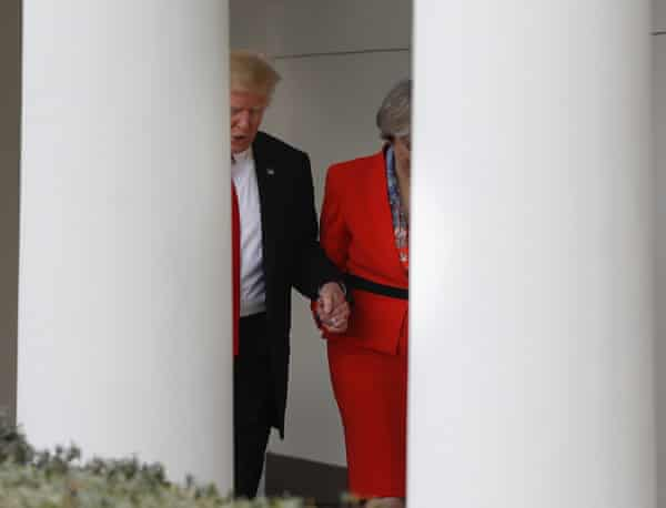 Trump and May started off well, holding hands in the White House, but that relationship soured.