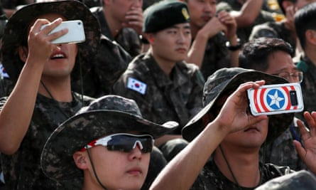 South Korean soldiers during a military expo in Pocheon.