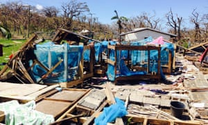 The boys dormitory at Lenakel Presbyterian college in Tanna after cyclone Pam.