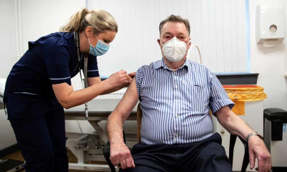 James Shaw, 82, who was one of the first people in Scotland to receive the Oxford/AstraZeneca vaccine, in January.