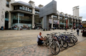 Leicester city centre.