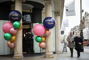 A shop on New Bond street, as the coronavirus disease (COVID-19) restrictions ease today