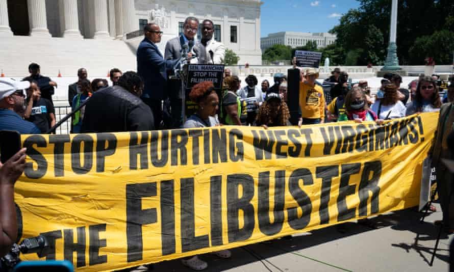 demonstration against the filibuster in Washington