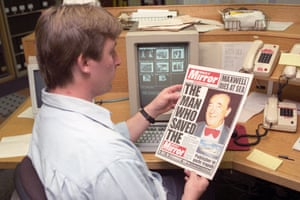 The Daily Mirror announces Maxwell's death in 1991