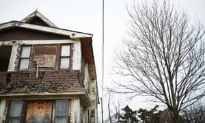 An abandoned home in Cleveland, Ohio, where public health activists and city officials are seeking solutions to reduce lead exposure from paint in some older homes in the rental market.