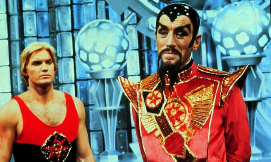 Sam Jones and Max Von Sydow in the 1980 film Flash Gordon.